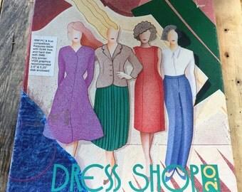 Vintage Computer Software: Dress Shop 2.0 / 1993 Livingsoft inc. / Full Dress Making Software / IBM Compatible / Complete