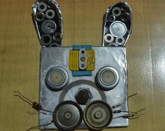 Handmade Recycled Rabbit Sculpture
