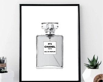 Chanel perfume print | Etsy