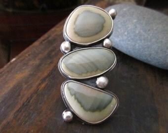 Imperial Jasper Ring - imperial jasper, handmade sterling silver ring