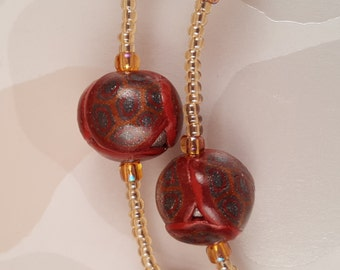 Handmade Patchwork & Copper Bead Necklace