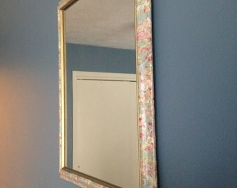 Vintage Floral Wall Mirror