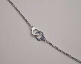 handcuff necklace silver necklace everyday necklace bridesmaid necklace
