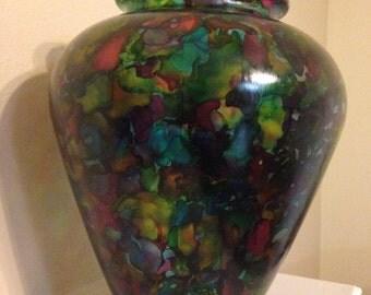 Ink stain vase- multi color