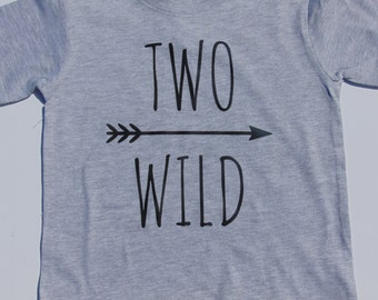 Two Wild Second Birthday Shirt with Arrow