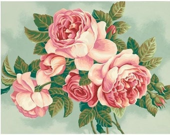 "Paint Works -Paint by Number Kit 11"" X 14 - Heirloom Roses"