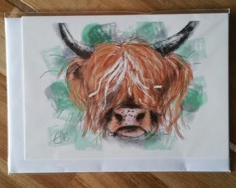 Greeting card - highland cow