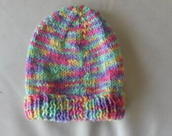 Premmie woollen Baby hat and booties set