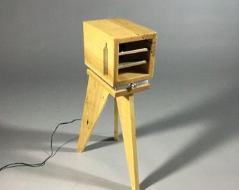 Handmade Wood Dial Multi-Speed Electronic Fan