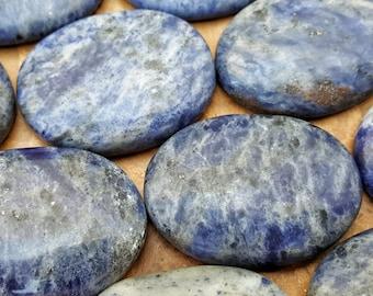 Sodalite Crystal Healing Worry Stone -  Pocket Palm Stone 177