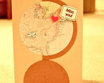 Card- Missing You Globe Card