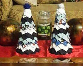 Set of 2, quilted Christmas trees