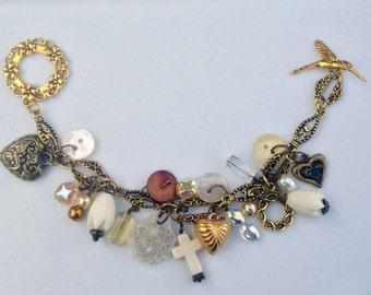 Gold & Brass Charm Bracelet by Melissa