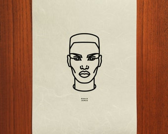 Grace Jones Outline Portrait