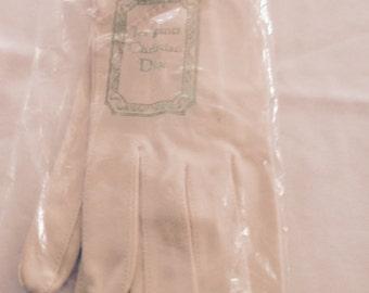 Vintage Christian Dior Cotton Gloves
