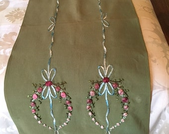 Embroidered Dresser Scarf