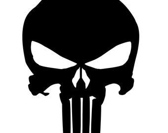 Punisher Skull Vinyl Decal - Choose Size/Color