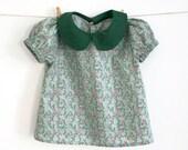 Bébé et chemise col Claudine fille avec Téléchargement instantané de manches bouffantes-patron de couture patron PDF –