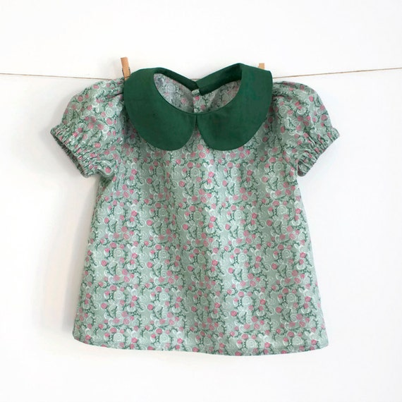 Baby peter pan collar blouse with puff sleeves pattern for Peter pan shirt pattern