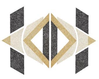 Geometric Stipple Print