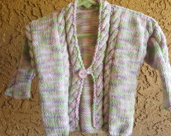 hand made knitted cardigan