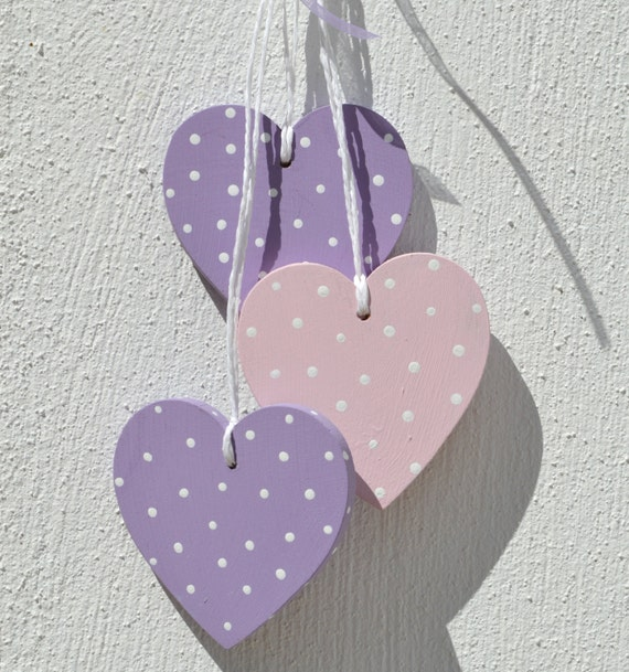 Decorative Wall Hanging Hearts : Sale home decor wall wooden hearts hanging