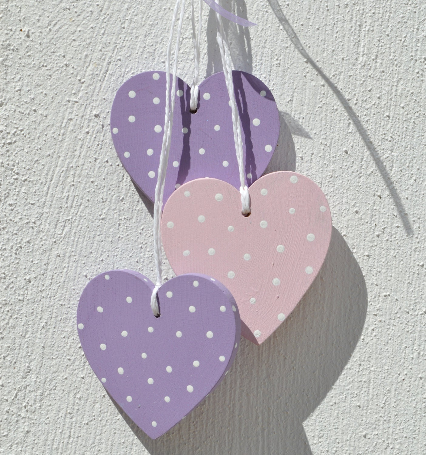 Hanging Heart Wall Decor : Sale home decor wall wooden hearts hanging