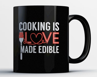 Cooking Gifts - Cooking Coffee Mug - Chef Gift - Love to Cook