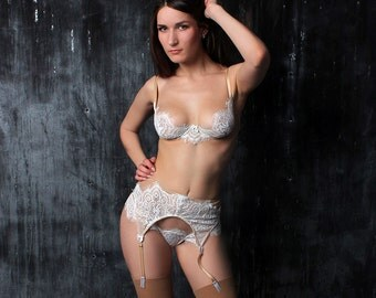 Wedding Lingerie, Bridal Lingerie, White Lingerie, Wedding Underwear, Bridal Underwear, Honeymoon Lingerie, Bridal Bra, Babydoll Lingerie