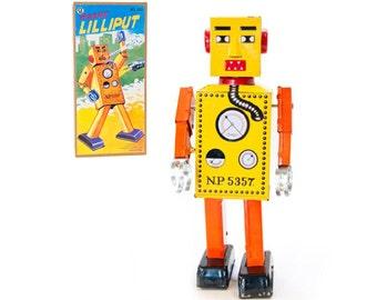 Vintage Style Large Wind Up Robot Lilliput