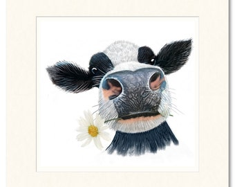 Limited edition giclee print. Just for moo!