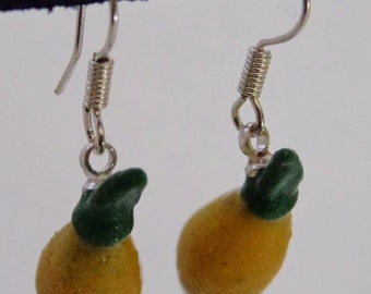 LIME EARRINGS POLYMER clay