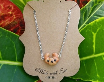 Kawaii Croissant Doggy Necklace