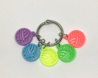 GLOW ball stitch markers for knitting and crochet!