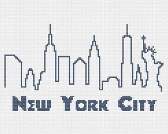 PDF - New York City Skyline Cross Stitch Pattern