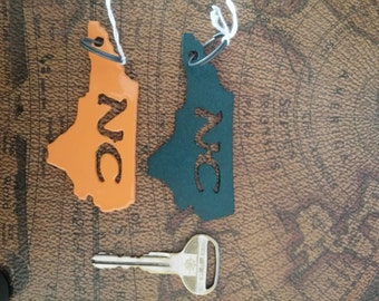 NC Keychain powder coated