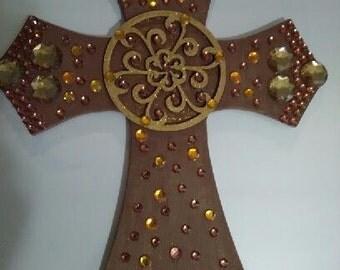 Brown Antique Wall Cross