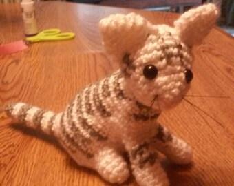 Crocheted Amigurumi cat