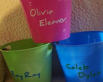 Personalized Storage Bins / Gift Baskets