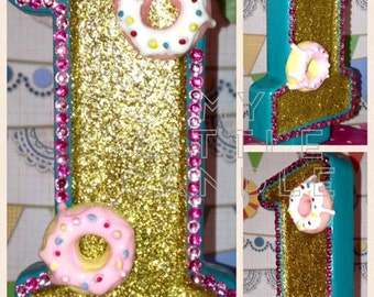 "X-Large 7"" Donuts Custom Birthday Candle"