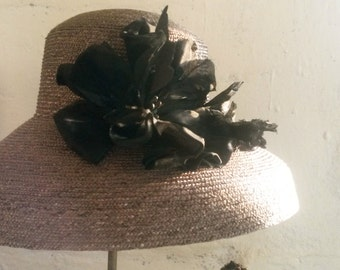 natural straw hat form Bell