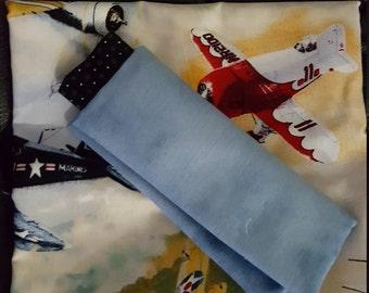 Antique Airplane Pillowcase Kit