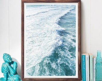 Ocean Photography, Beach Decor, Coastal Photography, Turquoise, Teal, California, Pacific Ocean, Printable Wall Art, Digital Download