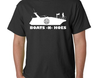 Boats -N- Hoes T-Shirt, Prestige Worldwide - Step Brothers - Funny! FREE SHIPPING!!!