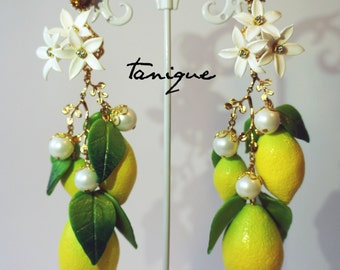 Lemon tree earrings