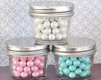 Mason jars-4oz, mason jar favors, wedding favors, bridal shower favors, candy jars, favor jars