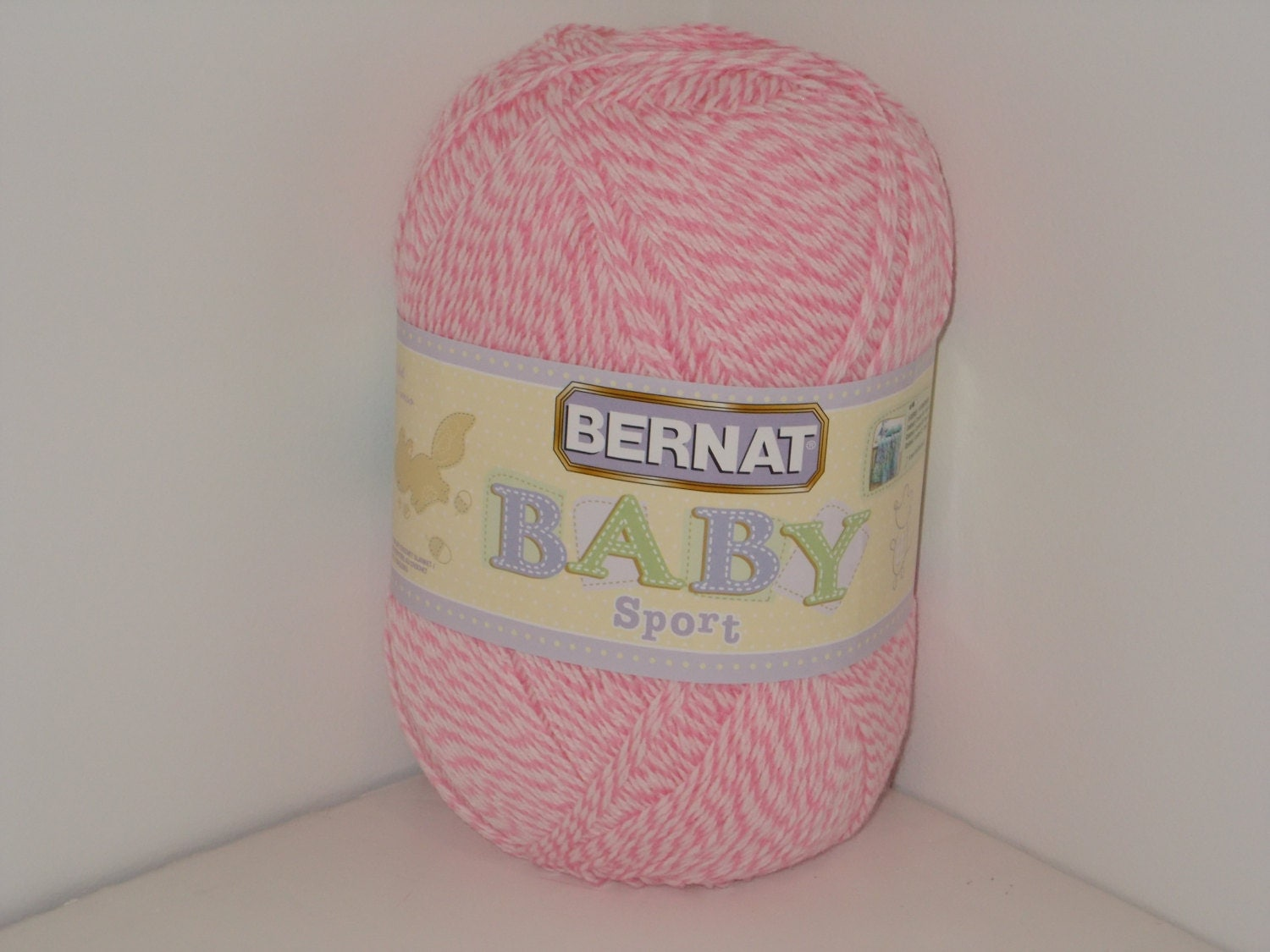Knitting Patterns For Bernat Baby Sport Yarn : Bernat Baby Sport Big Ball Yarn Baby Pink Marl 12.3oz/350g