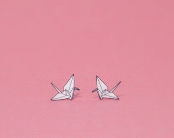 Paper Crane Earrings, Origami-Style Good Luck Charms for Your Ears!