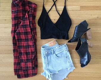 KASEY low waisted cut off shorts