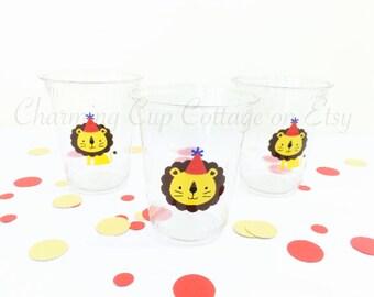 Lion Party Cups/Lion Party Theme/Lion Theme Party/Lion Party Favors/Party Cups/Lion Birthday Party Theme/Lion Baby Shower Theme/Jungle Party